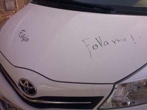 pintades als cotxes 1