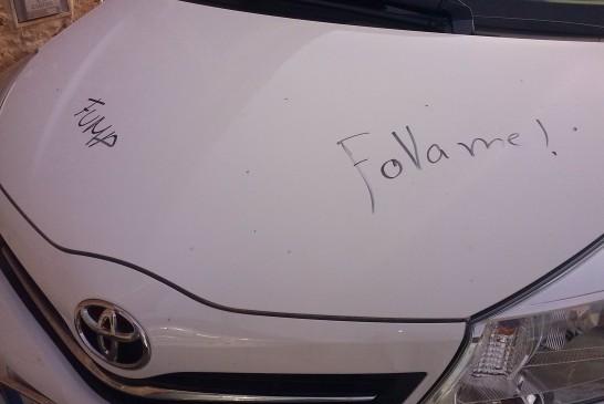 Actes vandàlics als carrers de devora l'església