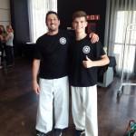 Dos saliners, campions d'Europa de chaiu-do-kwan