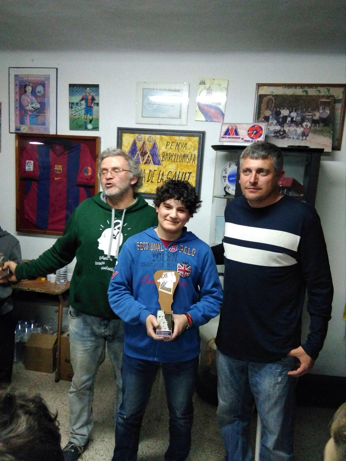 Miquel Bujosa guanya el Torneig d'Escacs Ràpid Comarcal Classificatori