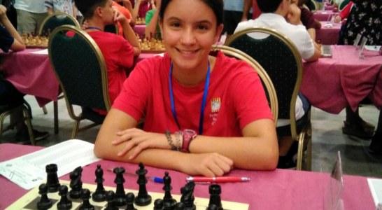 Susana Rubert, al Campionat d'Espanya sub-14 d'escacs