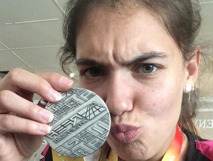 Inés Pascual, subcampiona d'Espanya sub-18