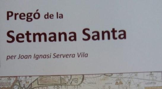 Joan Ignasi Servera farà el Pregó de Setmana Santa per videoconferència
